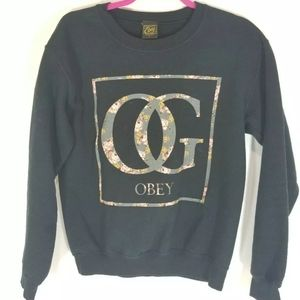 Obey gucci vibe floral pullover sweater Size s